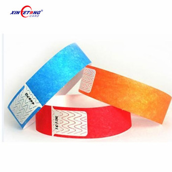 High Quality Disposable Rfid Paper Wristband Tag For Hospital RFID Tag