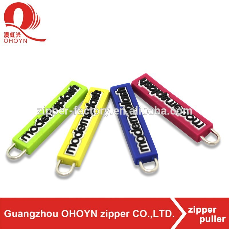 machine fashion fancy custom magnet plastic zipper chain rubber bag puller
