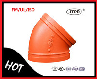 Hot Sale Fire Protection FM UL Grooved Fittings Elbow 45