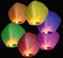 Colorful Wishing Hot Air Balloons Flying Sky Lanterns