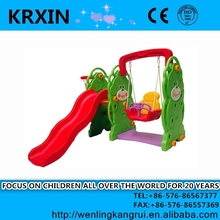 Solid Bear Slide With Swing And Basketball Stand playground