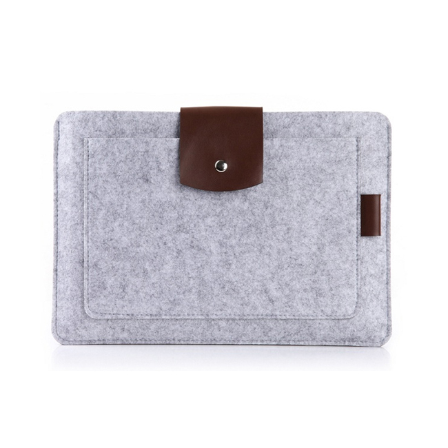 Free sample fancy office notebook case environmental protect felt laptop sleeve handbag for computer
