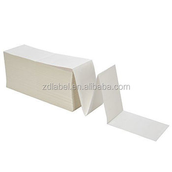 Direct Thermal Fanfold Shipping Labels Perforated Zebra Printer 4000 Labels Per Carton