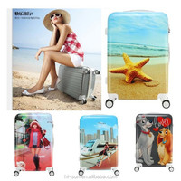 12 colors Spinner hardshell ABS PC Trolley bag Fasion Printing Airline Boarding case Carry On Luggage