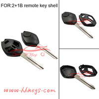 New Design Chip Remote Key Fob Shell Case for Mitsubishi 2+1 Buttons Replacement Key Shell without button pad