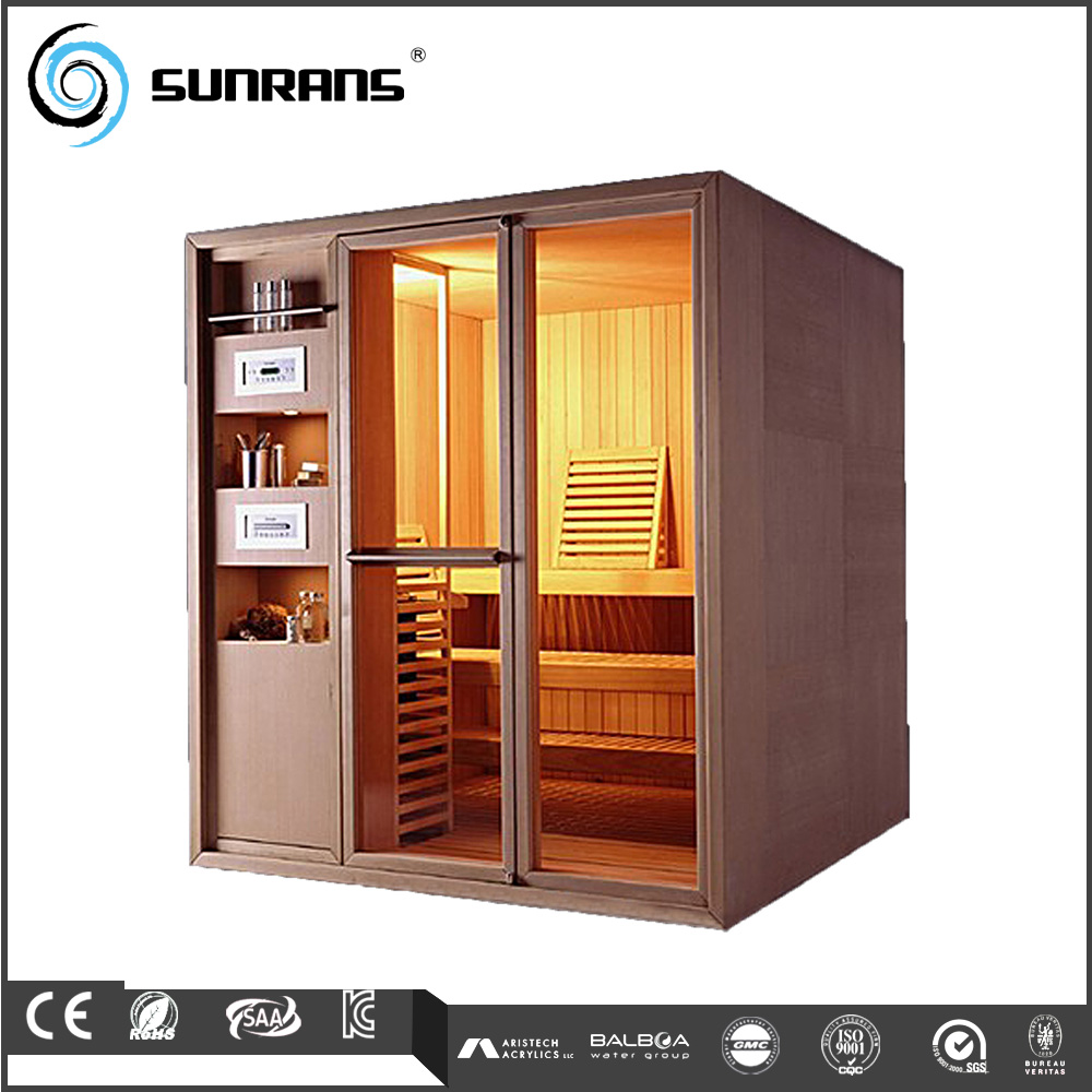 High Fashion 2 Persons Traditional Outdoor Sauna And Steam Combined Room