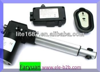 12 volt or 24 volt tv lift linear actuator with wireless for Boat lift motors 12 volt