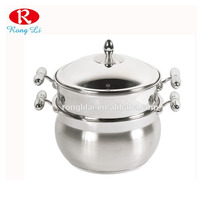 Capsuled Bottom SS201 Couscous with Steamer / Couscous Pot Stainless Steel/Couscoussier/Food Steamer Pots
