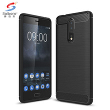 Hot items TPU carbon bumper case for nokia 8 cover cases for nokia n8