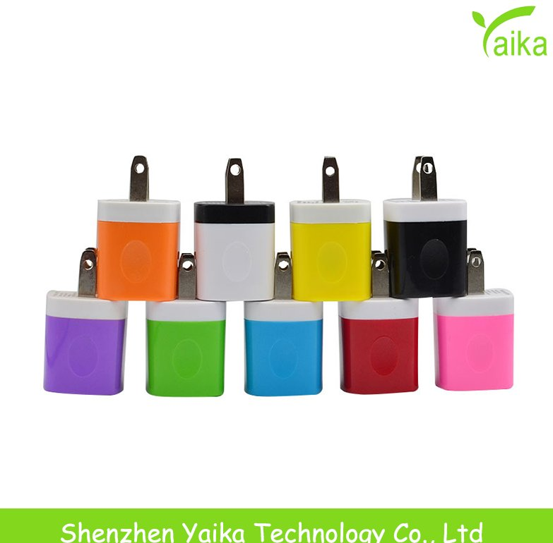 Yaika manufacturer mobile phone accessories 5v 1a wholesale usb wall charger