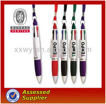 cheap custom pen with lanyards no minimum order