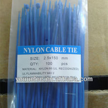UL recognized blue color cable ties nylon