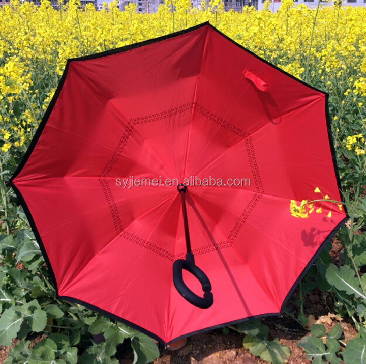 Fashion design 23 inch double layer reverse umbrella