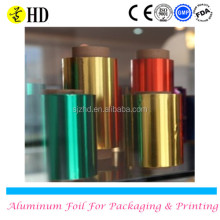 Hair color foil/printed hair dressing aluminum foils