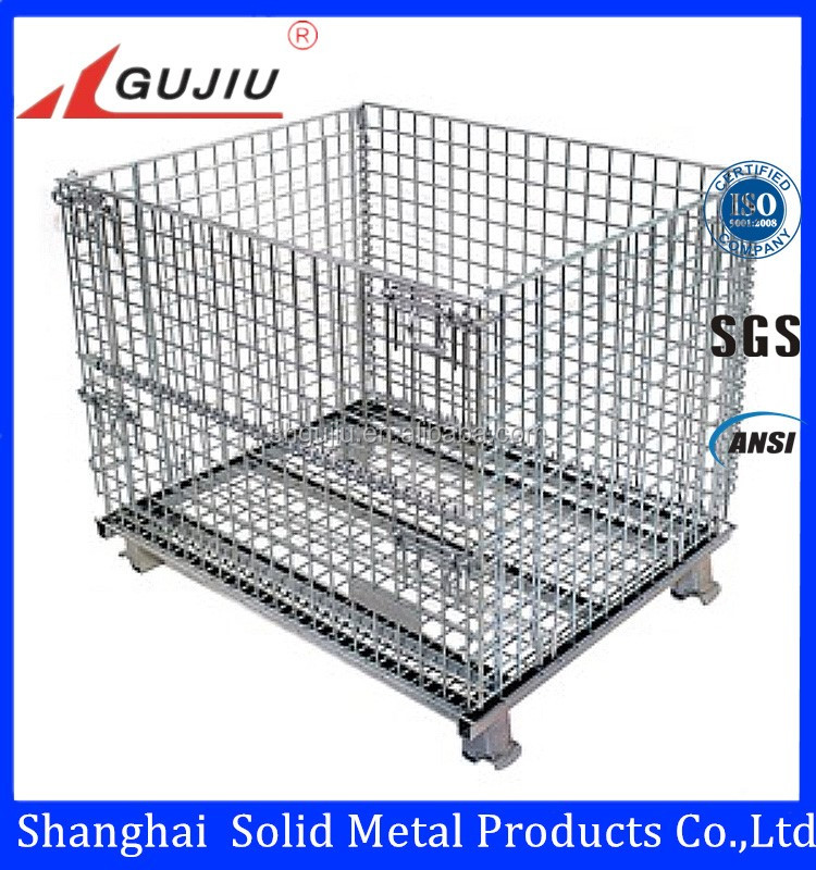 Good Quality Mesh Box Wire Cage Metal Bin Storage Container