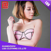 Lastest style strapless pink sex hot sexy asian women in bikini swimwear