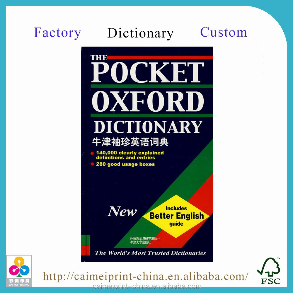 China cheap pocket oxford dictionaries printing services for One dictionary
