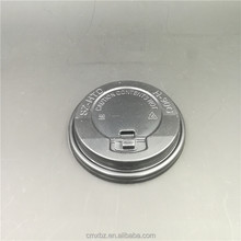 Quality design 92MM PS lid disposable paper coffee cup cover