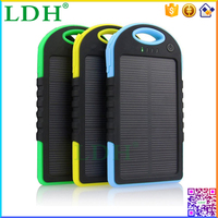 LDH 5000mah Dual USB Portable Mobile Power Bank Solar Battery Charger With LED