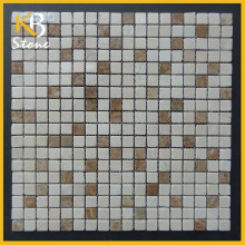 Egyptian Yellow mixed Emperador Light Marble Mosaic Tile pool tile prices