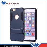 Best quality lowest price robot kickstand case for iphone 6