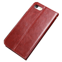 2017 newest leather phone case for i8 i7 i6 with card slot Phone cover