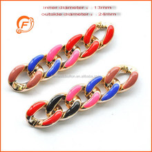 decorative safety coloured plastic chain for wholesale in high quality