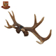 Custom made wholesales decorative resin artificial deer antler crafts