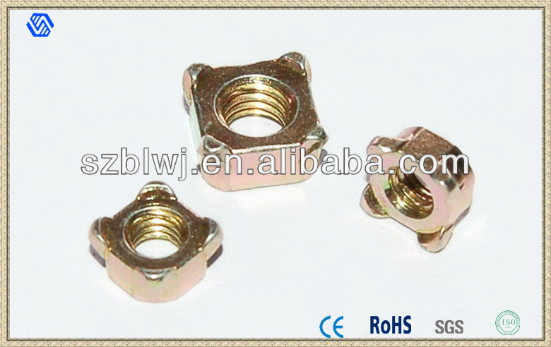 JIS Square Weld Nuts Supplier,Square Weld Nut DIN928 Manufacturer