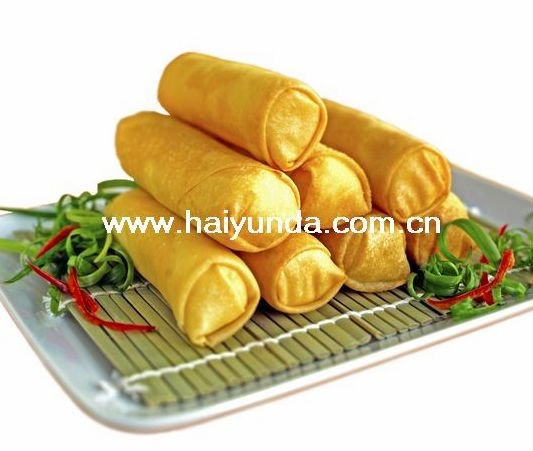 frozen samosa and vegetable spring rolls