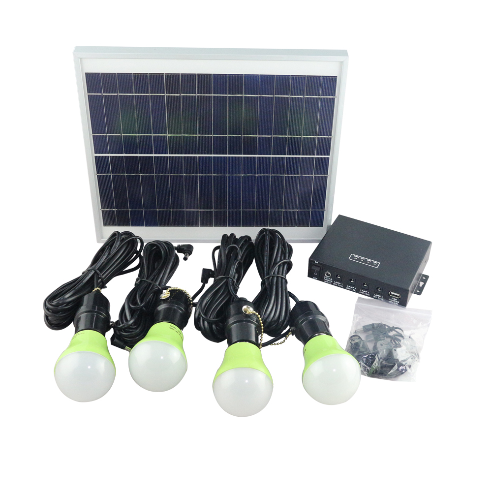 mini solar power home led lighting system kits with charger