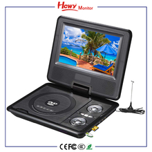 "Hot Home Portable DVD tv Player 9"" TFT LCD Screen 800*480 Car Headrest DVD tv VCD Players Manual"