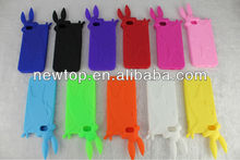 OEM ODM Rabbit silicone case for Apple iPhone 5 cute design