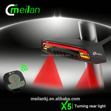 Factory Price Bike light Meilan X5 electric bike customize laser rechargeable battery for rear light