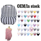 Multi-Use 4-1 Stretchy nursing cover scarf Shopping Cart Cover baby car seat cover