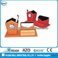 fashion design table pen holder with clock