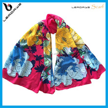 flower printing red color 2016 muslim hijab scarf