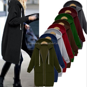 AL2997W Oversized autumn winter women casual sweatshirt hoodies coat pockets tops long hoodie