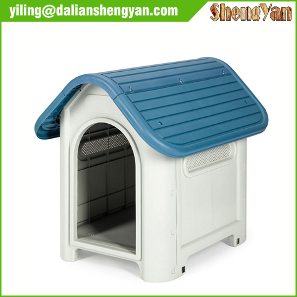 New Durable Resin All Weather Pet Dog House Outdoor Plastic Cage