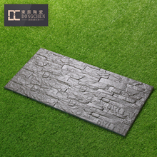 30 x 60 matte finished embossed black full body glazed porcelain tiles for kitchen and bathroom wall tile