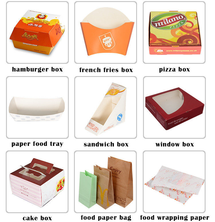 Cheap french fries paper cone custom,disposable french fries box wholesale