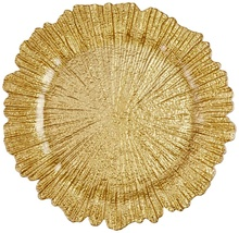 Wholesale 13inch Gold Charger <strong>Plates</strong> Underplate Wedding Reef Gold Charger <strong>Plates</strong> For Wedding
