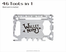 Custom outdoor survival wallet tool pocket knife credit card multi tool