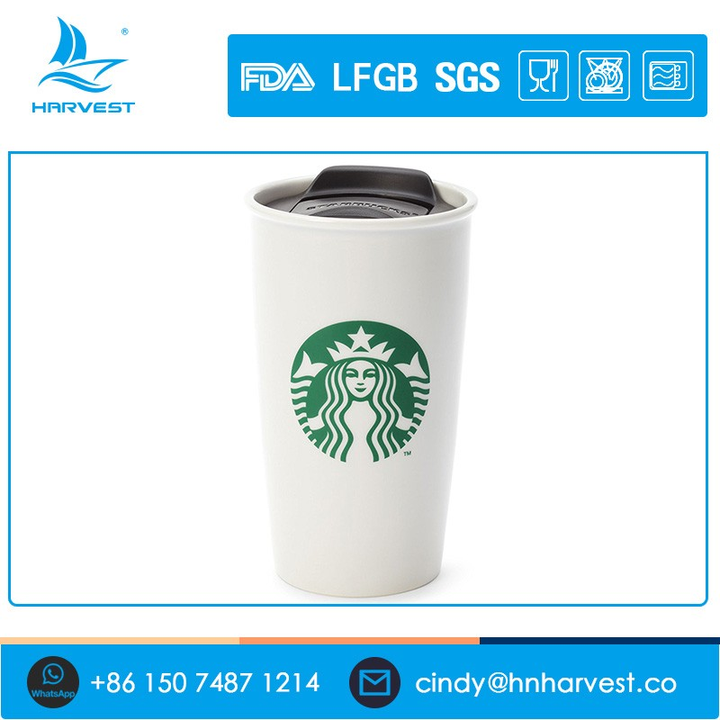 Double Wall Coffee Ceramic Starbucks Tumbler