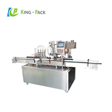 Automatic 4 nozzle volumetric filling machine for 1L bottles, toilet cleaner filling machine high speed