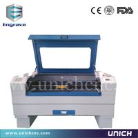 UNICH 2015 new model laser paper cutting machine portable for mdf with top cover LXJ1290