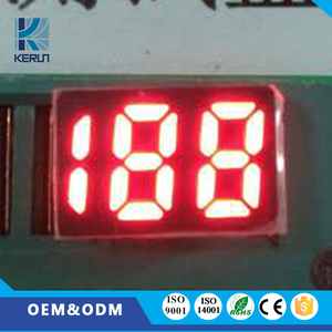 white/red/green/blue/amber color triple digit 0.56inch custom 7 segment led digital display