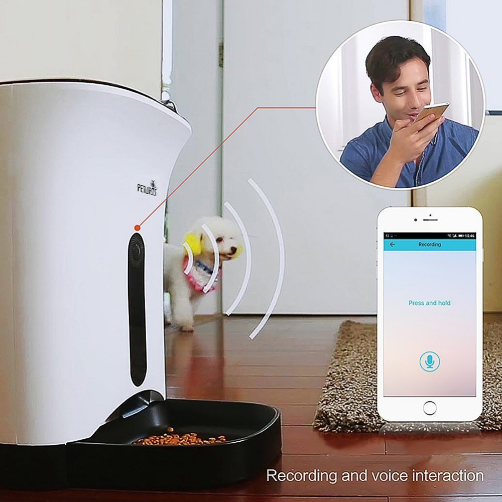 Automatic Pet Feeder for Dog or Cat Control by Iphone Andriod or other smart devices
