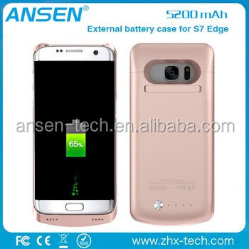 Phone Accessories 5200mAh External Battery Mobile Charger Power Case For Samsung Galaxy S7 Edge Power Bank