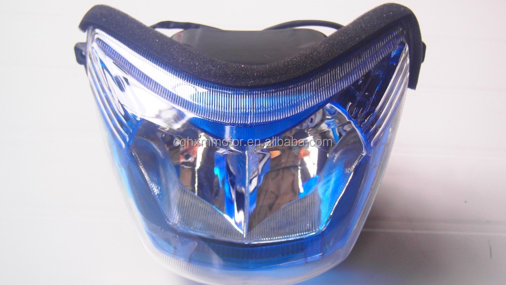 Chinese three wheel motorcycle led head light for harley chopper grille
